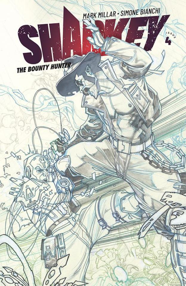 Sharkey, The Bounty Hunter #4 (Sketch Bianchi Cover)