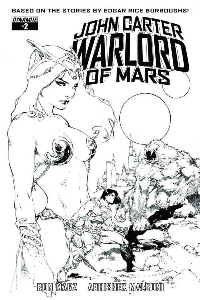 John Carter: Warlord of Mars #2 (20 Copy Benes B&W Cover)