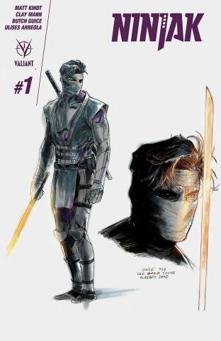 Ninjak #1 (20 Copy Character Design Mann Cover)