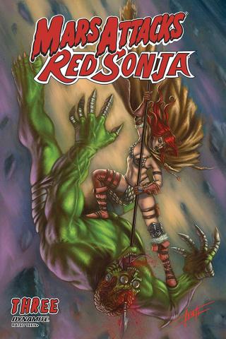 Mars Attacks / Red Sonja #3 (Strati Cover)