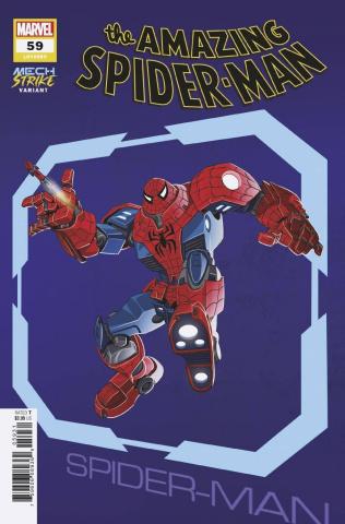 The Amazing Spider-Man #59 (Castellani Avengers Mech Strike Cover)