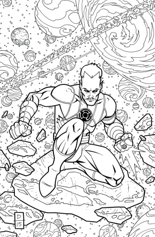 Sinestro #19 (Adult Coloring Book Cover)