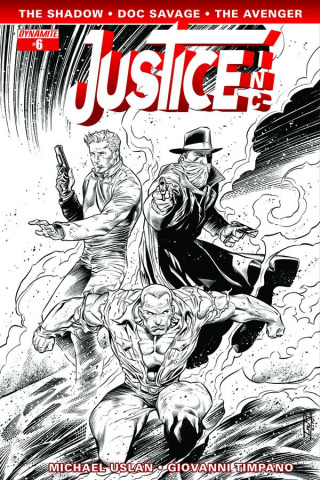 Justice, Inc. #6 (15 Copy Syaf B&W Cover)