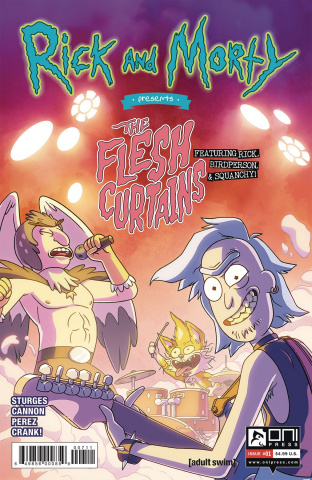 Rick and Morty Present Flesh Curtains #1 (Cannon Cover)