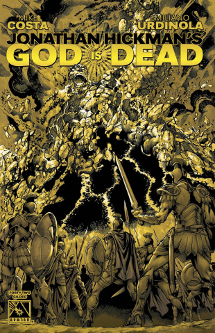 God Is Dead #42 (Gilded Retailer Order Incentive Cover)
