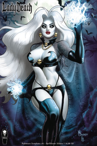 Lady Death: Nightmare Symphony #2 (Spellblaster Cover)