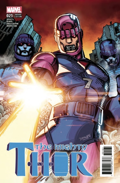 The Mighty Thor #21 (X-Men Card Cover)