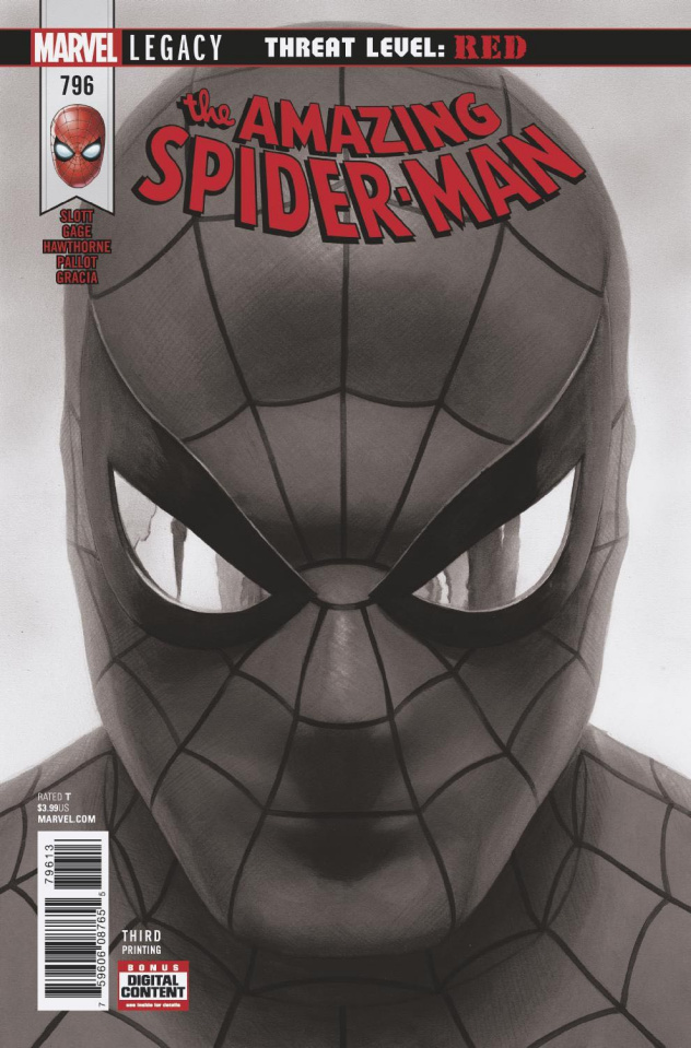 The Amazing Spider-Man #796 (Alex Ross B&W 3rd Printing)