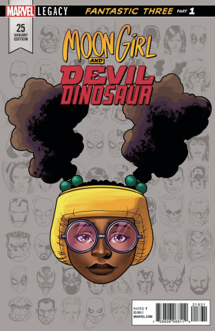 Moon Girl and Devil Dinosaur #25 (Legacy Headshot Cover)