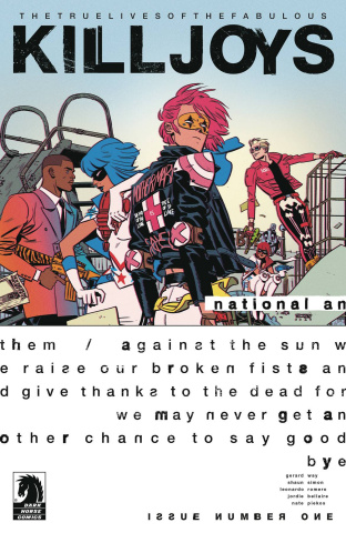 The True Lives of the Fabulous Killjoys: National Anthem #1 (Romero Cover)