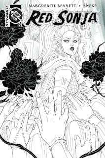 Red Sonja #2 (10 Copy Sauvage B&W Cover)