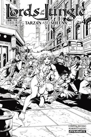Lords of the Jungle #4 (10 Copy Castro B&W Cover)