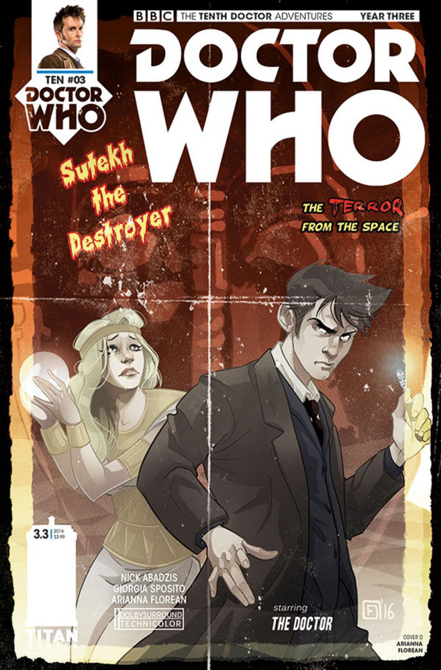 Doctor Who: New Adventures with the Tenth Doctor, Year Three #3 (Florean Cover)