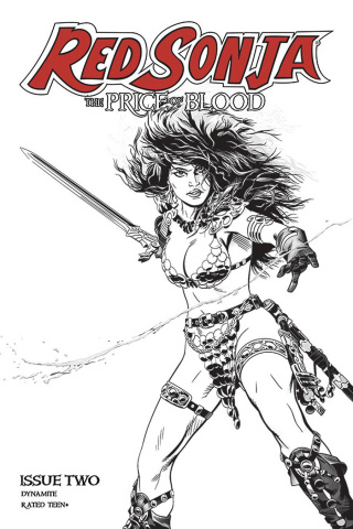 Red Sonja: The Price of Blood #2 (10 Copy Golden B&W Cover)