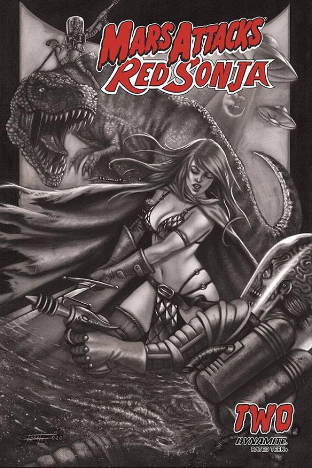 Mars Attacks / Red Sonja #2 (7 Copy Strati Sketch Dressed Cover)
