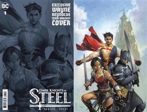 Dark Knights of Steel #1 (Team Wayne Reynolds Card Stock Cover)