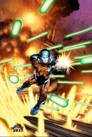X-O Manowar #46 (20 Copy Chriscross Cover)