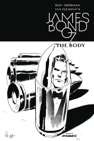 James Bond: The Body #6 (10 Copy Casalanguida B&W Cover)