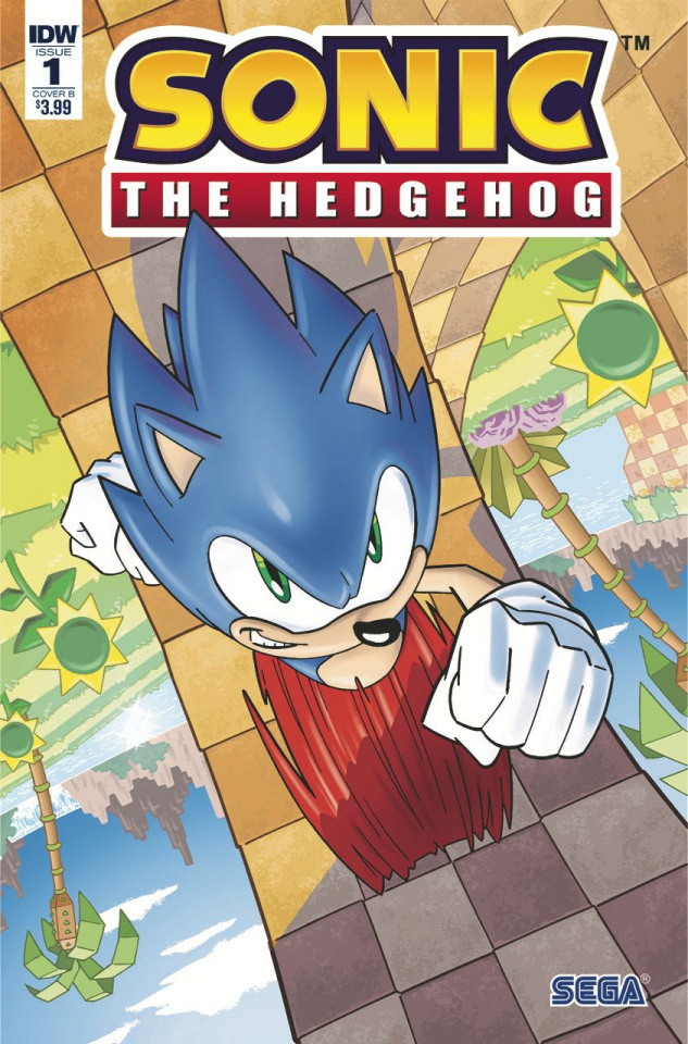 Sonic the Hedgehog #1 (Yardley Cover)