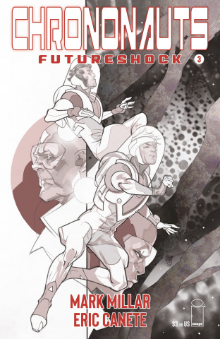 Chrononauts: Futureshock #3 (B&W Ferry Cover)