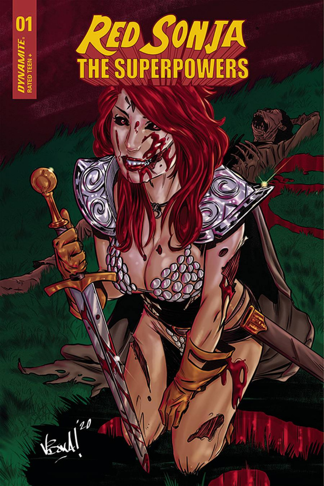Red Sonja: The Superpowers #1 (10 Copy Federici Zombie Cover)