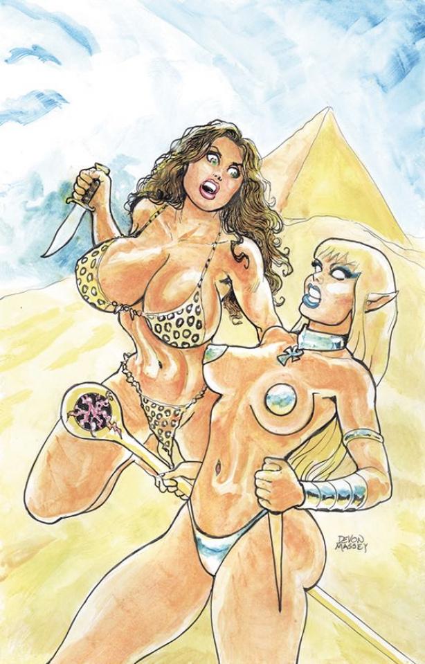 Cavewoman: Return to Danniken (Massey Cover)