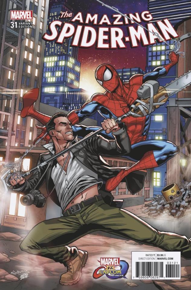 The Amazing Spider-Man #31 (Sliney Marvel vs. Capcom Cover)