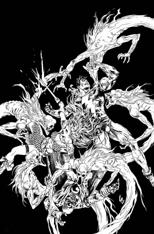 Red Sonja: The Superpowers #3 (30 Copy Lau B&W Virgin Cover)
