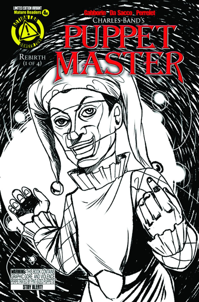 Puppet Master #4 (Jester Sketch Cover)