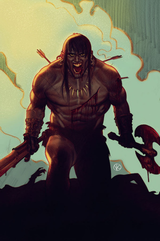 The Cimmerian: Red Nails #1 (Kalvachev Cover)