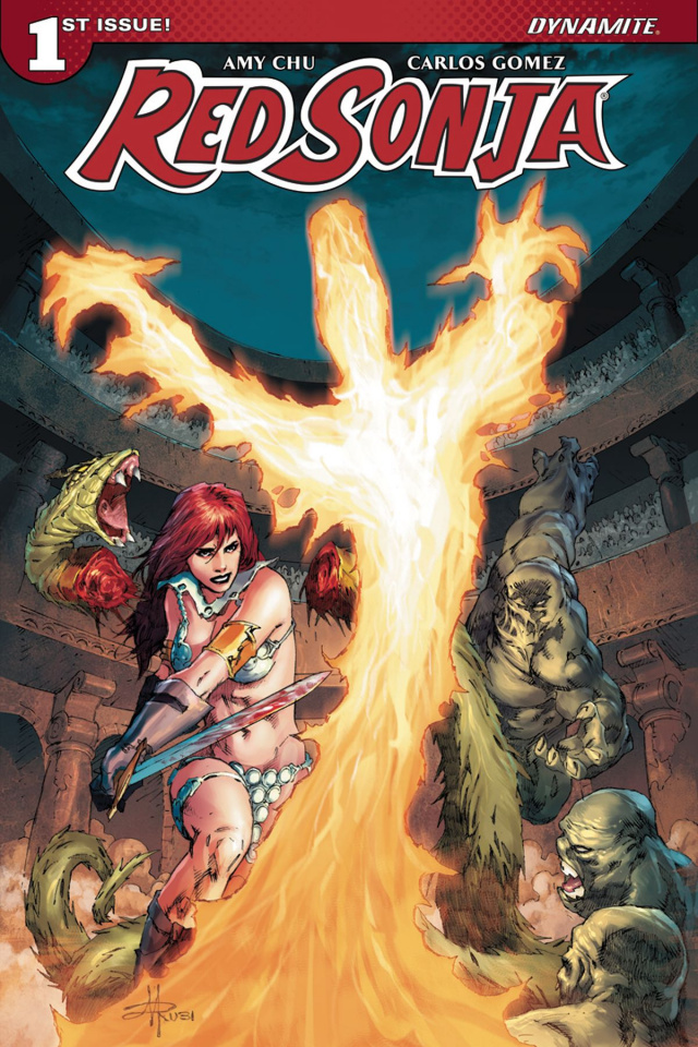 Red Sonja #1 (Rubi Subscription Cover)