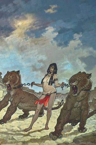 The Cimmerian: Red Nails #1 (Cassegrain Wraparound Cover)
