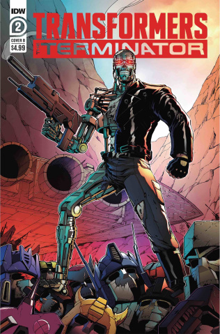 The Transformers vs. The Terminator #2 (Coller Cover)