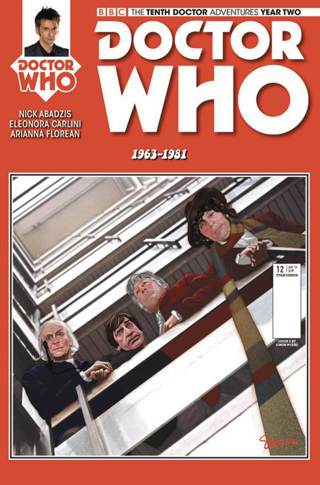 Doctor Who: New Adventures with the Tenth Doctor, Year Two #12 (Myers Cover)