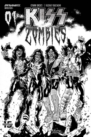 KISS: Zombies #1 (30 Copy Buchemi B&W Cover)