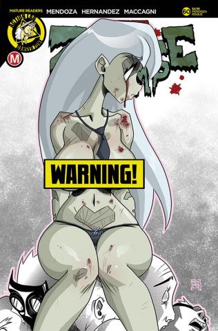 Zombie Tramp #60 (Mendoza Risque Cover)