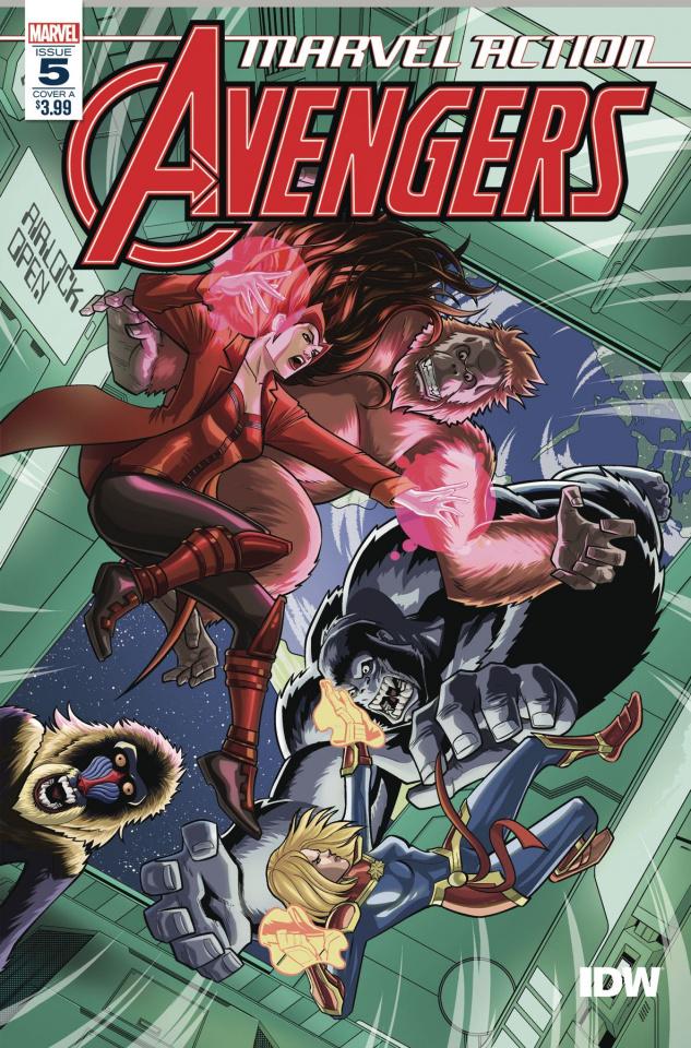 Marvel Action: Avengers #5 (Mapa Cover)