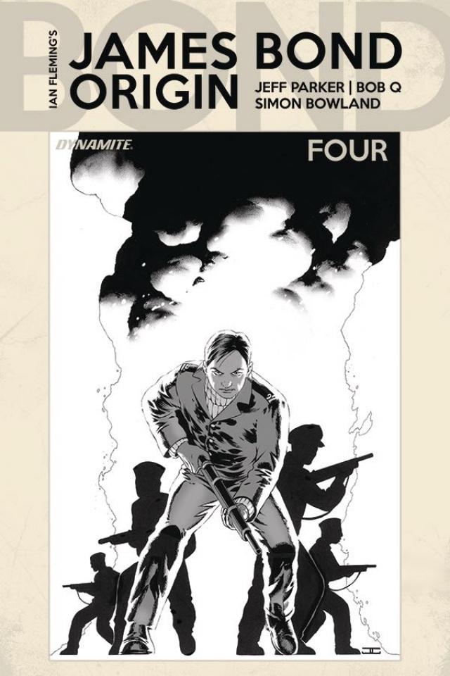 James Bond: Origin #4 (10 Copy Cassaday B&W Cover)