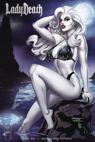 Lady Death: Unholy Ruin #2 (Dodson Foil Cover)