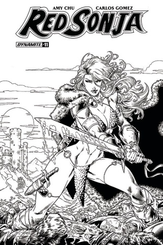 Red Sonja #11 (30 Copy Marion B&W Cover)