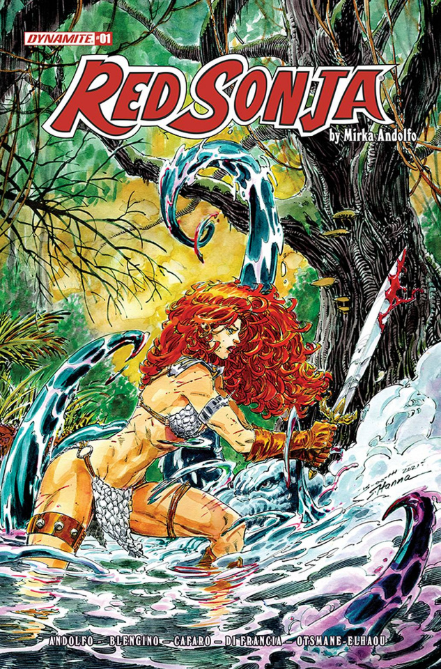 Red Sonja #1 (10 Copy Booth Original Art Cover)