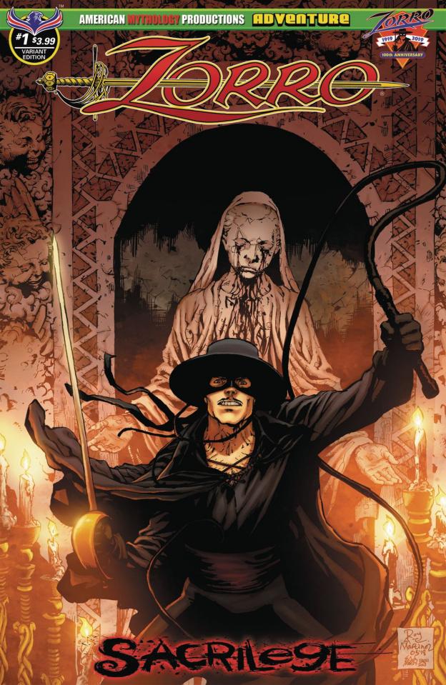 Zorro: Sacrilege #1 (Martinez Possession Cover)