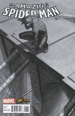 The Amazing Spider-Man #15 (ComicXposure B&W Cover)