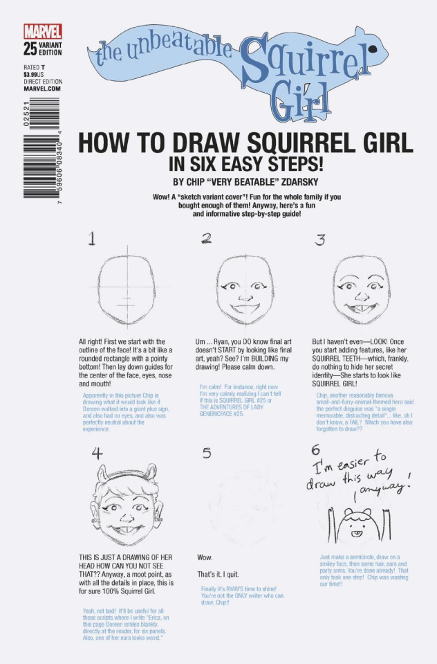 The Unbeatable Squirrel Girl #25 (Zdarsky How To Draw Cover)