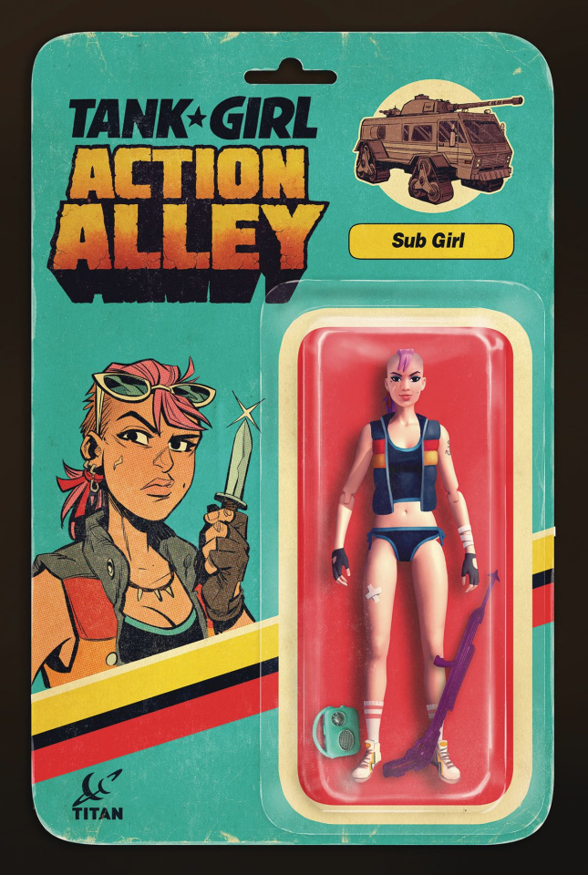 Tank Girl #4 (Sub Girl Action Figure Cover)