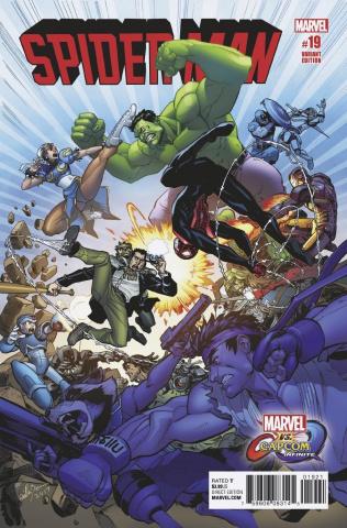Spider-Man #19 (Brown Gracia Marvel vs. Capcom Cover)