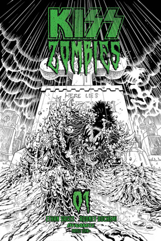 KISS: Zombies #1 (11 Copy Haeser B&W Cover)