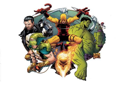Marvel Knights: 20th Anniversary #1 (Quesada Wraparound Hidden Gem Cover)