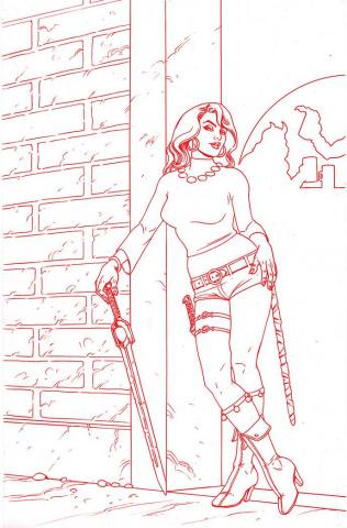Red Sonja #25 (Linsner Premium Tint Virgin Cover)