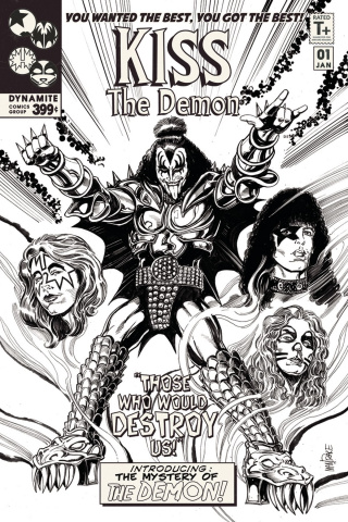 KISS: The Demon #1 (15 Copy Mandrake B&W Cover)